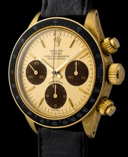 "Rolex ""The gold Daytona 6263 with chocolate shade registers"""