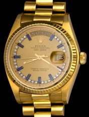 Rolex The Sapphire President ref 18038