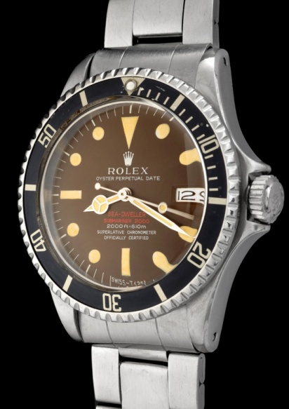 """Rolex """"The caramel brown Double Red Seadweller ref 1665"""" 2"""