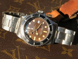 "Rolex ""The caramel brown Double Red Seadweller ref 1665"" nat 2"