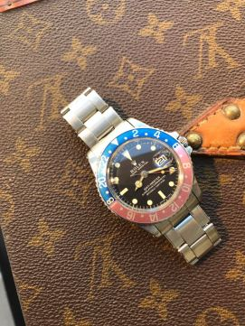 "Rolex ""The Full set deep brown GMT ref. 1675"" nat 1"