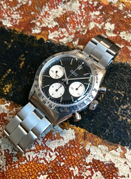Rolex The steel Daytona ref. 6239 Cherry Logo nat