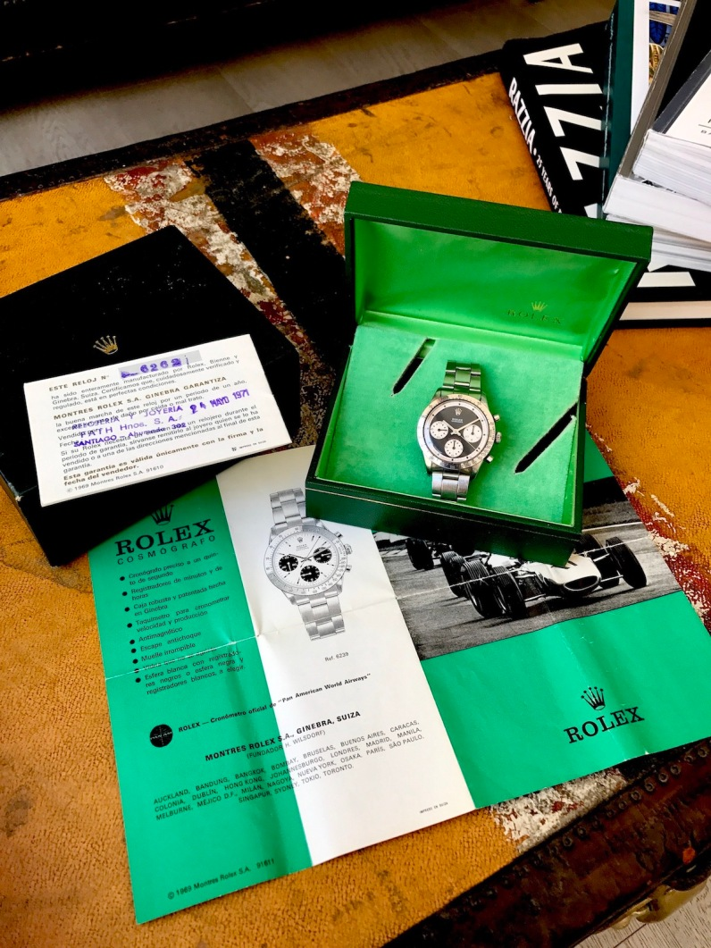 "Rolex ""The Full set black Paul Newman Daytona ref. 6262"" nat 4"