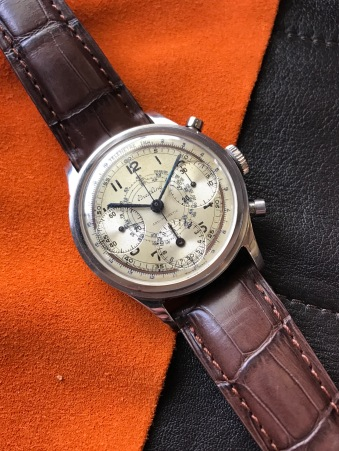 "Breitling ""The steel Anti-magnetic Chronograph"" nat 1"