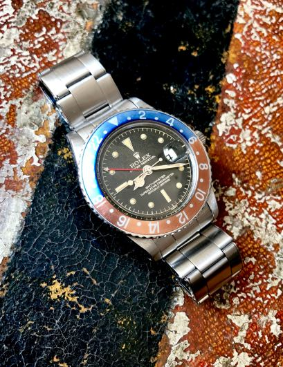 "Rolex ""The Full set Gilt GMT ref. 1675"" natural 0"