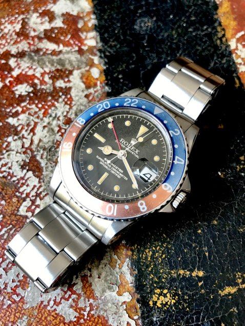"Rolex ""The Full set Gilt GMT ref. 1675"" natural 1"
