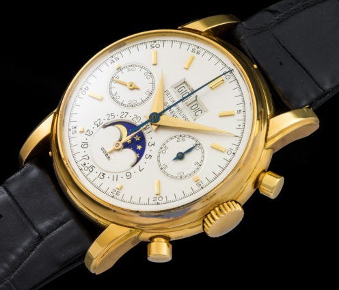 "Patek Philippe ""The yellow gold 2499 retailed by Gobbi"" 1"