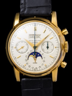 "Patek Philippe ""The yellow gold 2499 retailed by Gobbi"" 3"