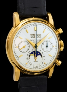 "Patek Philippe ""The yellow gold 2499 retailed by Gobbi"" 5"
