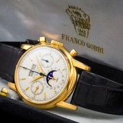 "Patek Philippe ""The yellow gold 2499 retailed by Gobbi"" det."