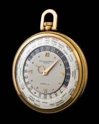 "Patek Philippe ""The yellow gold Worldtime pocketwatch retailed by Gübelin"" 1"