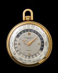 "Patek Philippe ""The yellow gold Worldtime pocketwatch retailed by Gübelin"" 2"