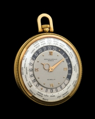 "Patek Philippe ""The yellow gold Worldtime pocketwatch retailed by Gübelin"" 3"