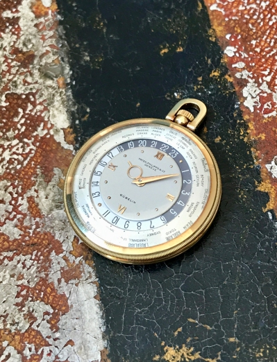 "Patek Philippe ""The yellow gold Worldtime pocketwatch retailed by Gübelin"" nat 1"