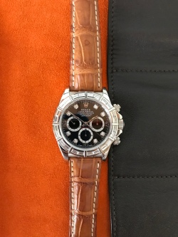 "Rolex ""The white gold & diamonds Zenith Daytona ref. 16589"" nat 1"