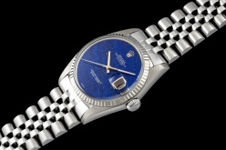 "Rolex ""The white gold Lapis Lazuli DateJust ref. 1601"""