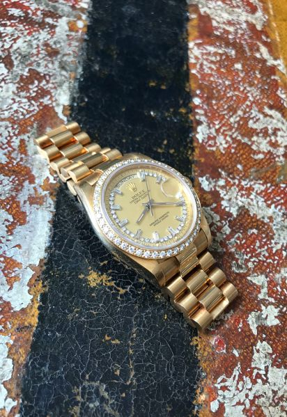 "Rolex ""The gold and diamond President ref. 18048"""