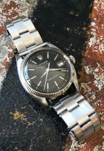 "Rolex ""The steel black DateJust ref. 6305-1"""