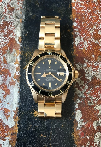 Rolex The Full set Meters First gold Submariner ref. 1680 natural 1