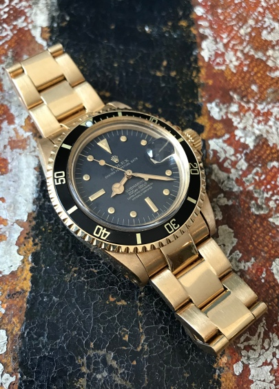 Rolex The Full set Meters First gold Submariner ref. 1680 natural 2