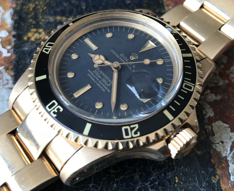 Rolex The Full set Meters First gold Submariner ref. 1680 natural 3