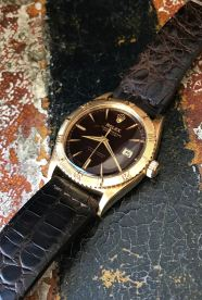Rolex The gold Tropical Date-Just ref. 6609 natural 2