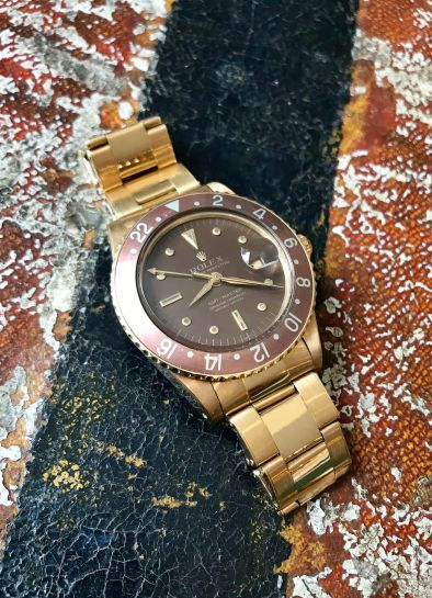 Rolex The Transitional Gold GMT-Master ref. 1675 natural 3
