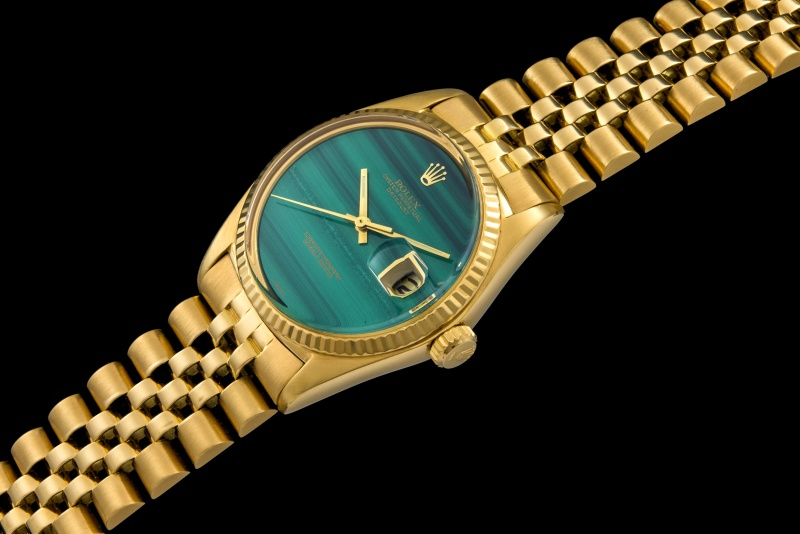 Rolex The gold Malachite DateJust ref. 1601 0