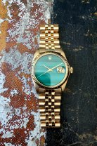 Rolex The gold Malachite DateJust ref. 1601 12