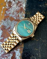 Rolex The gold Malachite DateJust ref. 1601 13