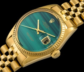 Rolex The gold Malachite DateJust ref. 1601 2