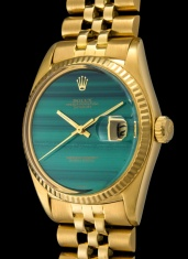 Rolex The gold Malachite DateJust ref. 1601 3