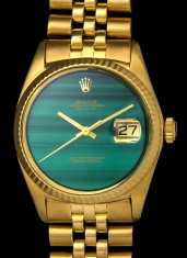Rolex The gold Malachite DateJust ref. 1601 4