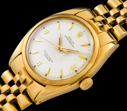 Rolex The yellow gold 3-6-9 Ovettone ref. 6098 1