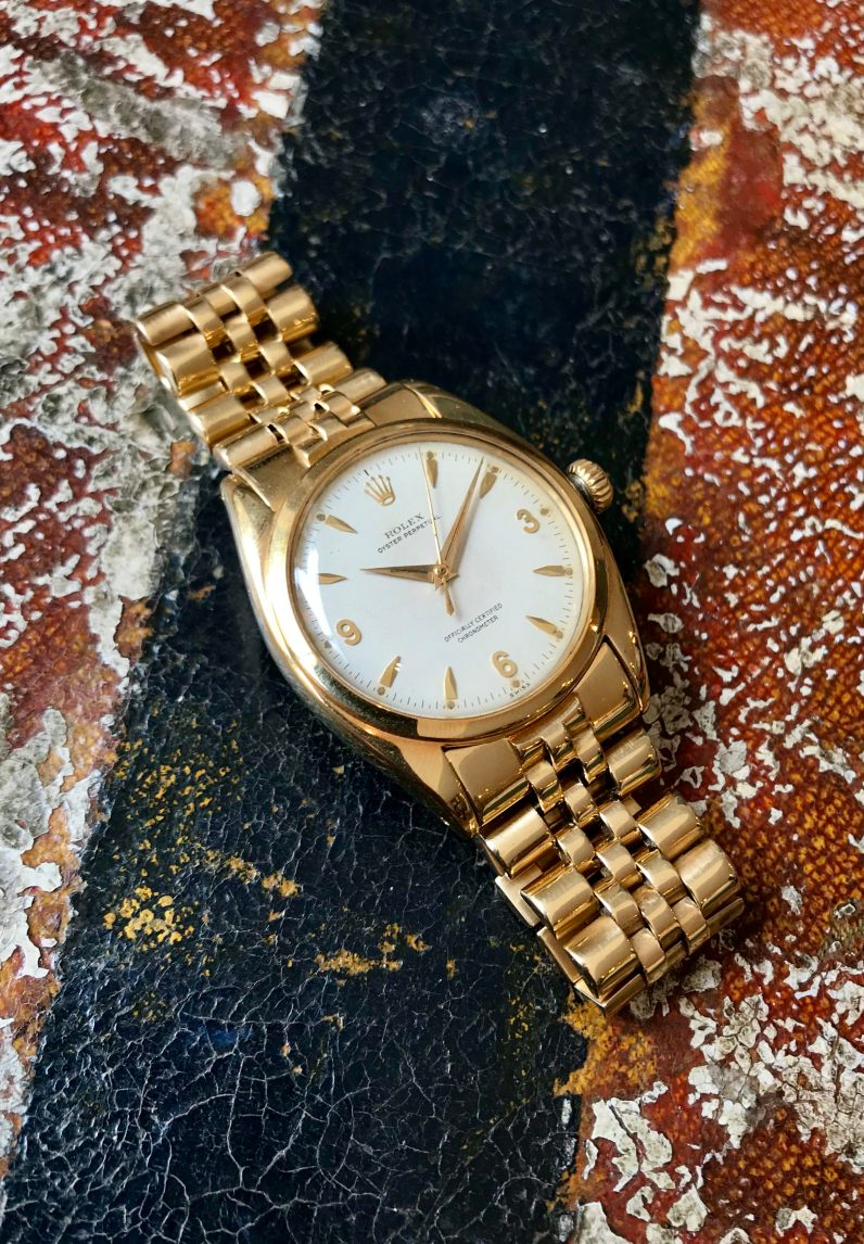 Rolex The yellow gold 3-6-9 Ovettone ref. 6098 14