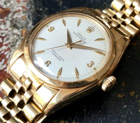 Rolex The yellow gold 3-6-9 Ovettone ref. 6098 15