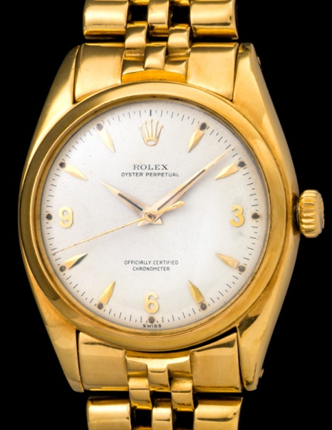 Rolex The yellow gold 3-6-9 Ovettone ref. 6098 3