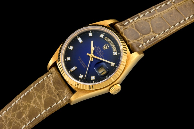 Rolex The Stella blue degradée President ref. 18038 0