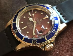 Rolex The Tropical gold Submariner ref. 1680 13